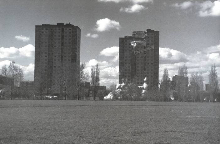 B: Clapton Park Estate, Mandeville Street, London E5; Bakewell Court; Repton Court; March 1995 1996 by Rachel Whiteread born 1963