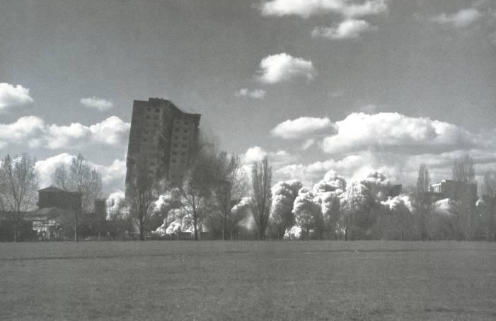 B: Clapton Park Estate, Mandeville Street, London E5; Bakewell Court; Repton Court; March 1995 1996 by Rachel Whiteread born 1963