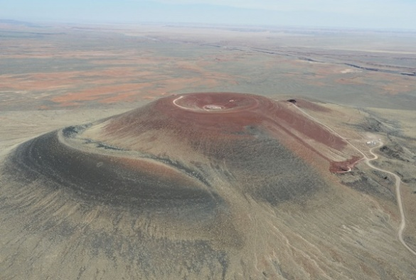Roden Crater, James Turrell's unfinished earthwork, is one of many craters in the area modified by the hands of man. CLUI photo