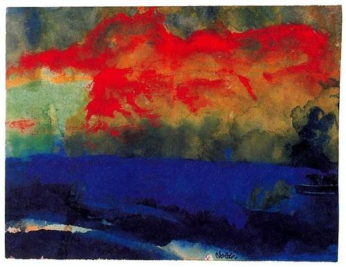 art,clouds,colors,emilnolde,expressionism,landscape-2e8d3cf5035fba6061670f9f8e69a05d_h